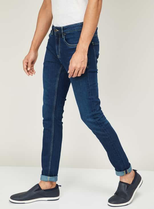 FAME FOREVER Men Stonewashed Skinny Fit Jeans
