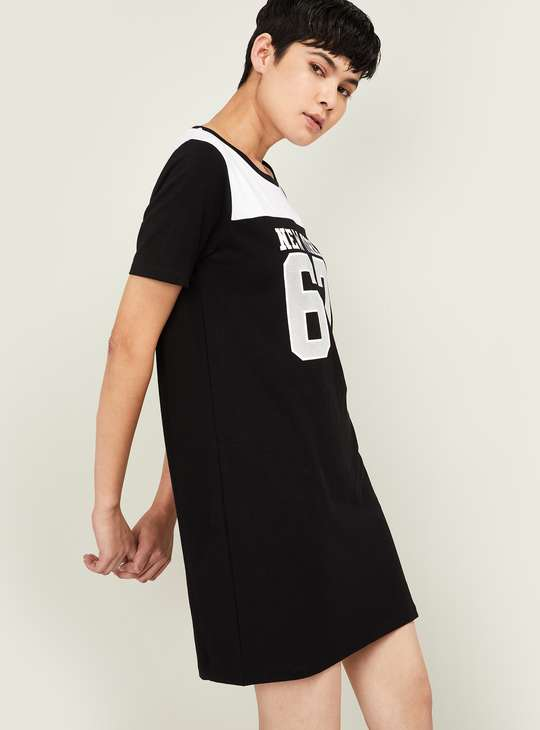 KAPPA Women Typographic Print Short Sleeves T-shirt Dress