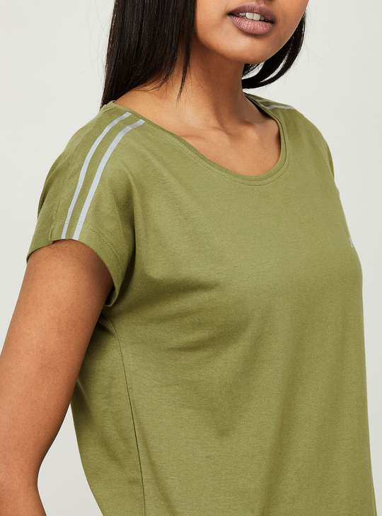 KAPPA Women Solid Extended Sleeves Training T-shirt