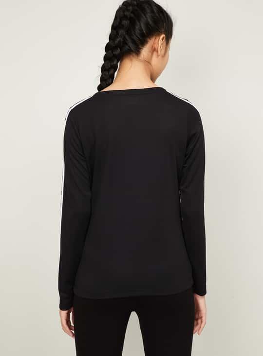 KAPPA Women Striped Full Sleeves T-shirt