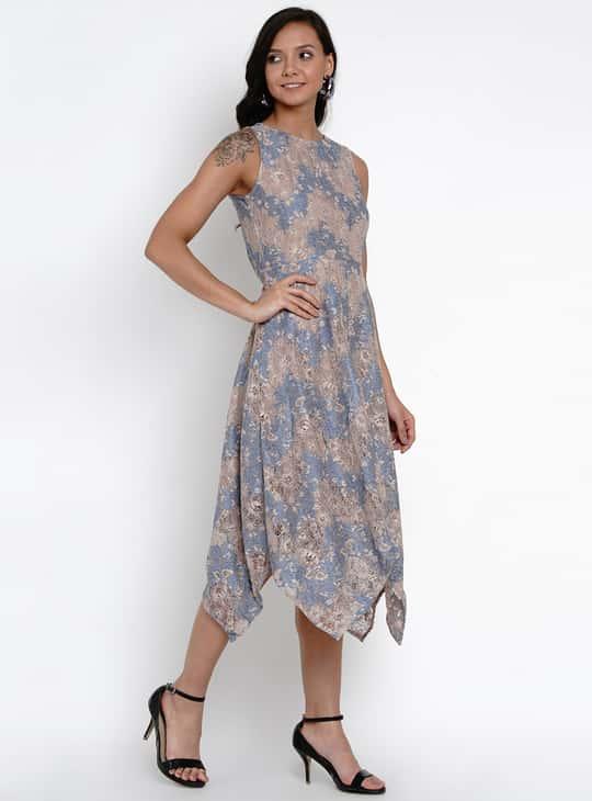 LATIN QUARTERS Women Lace Detail Sleeveless Midi Dress