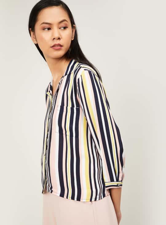BOSSINI Women Striped Three-Quarter Sleeves Shirt
