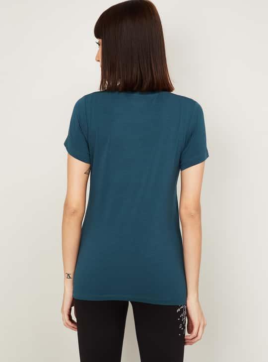 KAPPA Women Typographic Print Short Sleeves T-shirt