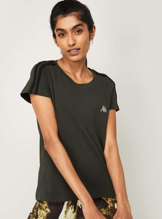 KAPPA Women Solid Round Neck T-shirt
