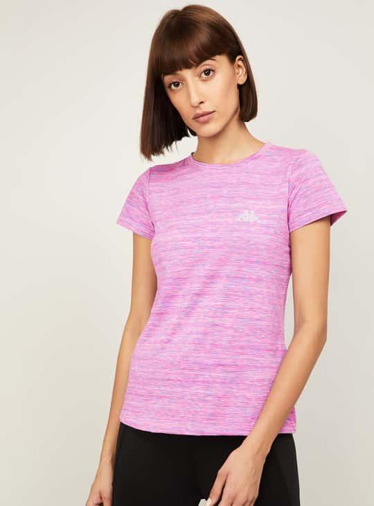 KAPPA Women Textured Round Neck T-shirt