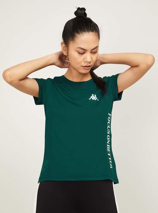 KAPPA Women Printed Short Sleeves Crew Neck T-shirt