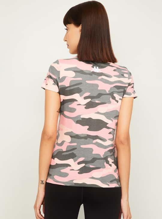 KAPPA Women Camouflage Printed T-Shirt