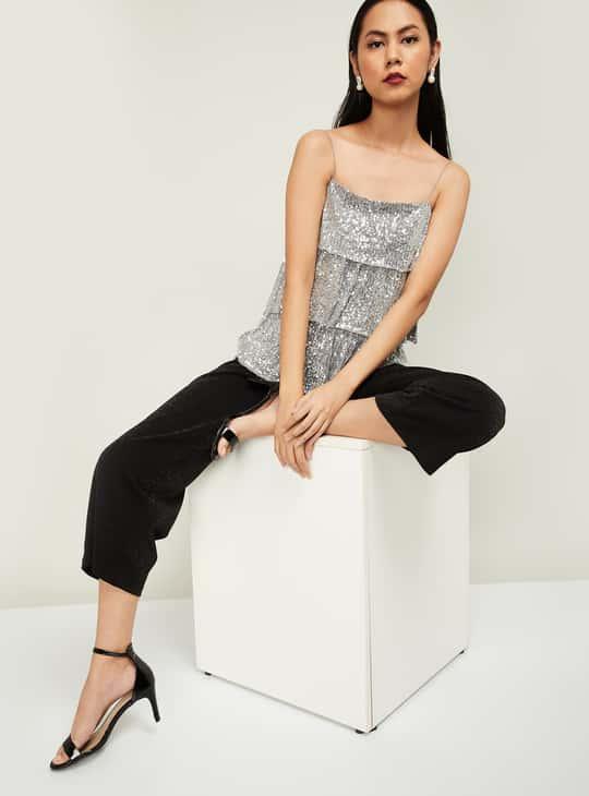 GINGER Women Embellished Camisole Top