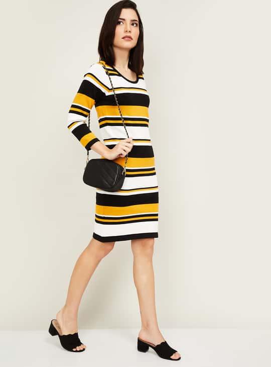 BOSSINI Women Striped Sheath Dress