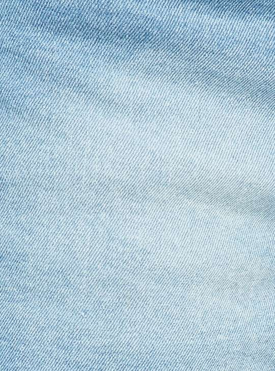 GINGER Women Washed Denim Shorts