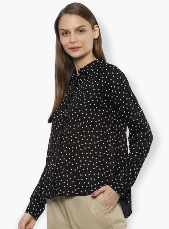 VAN HEUSEN Women Printed Full Sleeves Casual Shirt