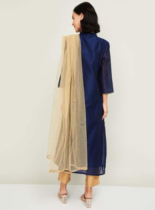 MELANGE Women Embellished Kurta with Pants and Dupatta