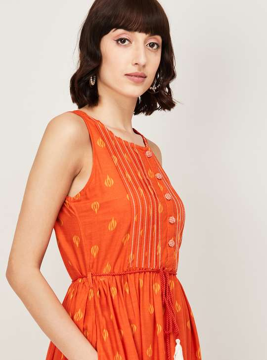 COLOUR ME Kyra Women Printed Sleeveless Maxi Dress