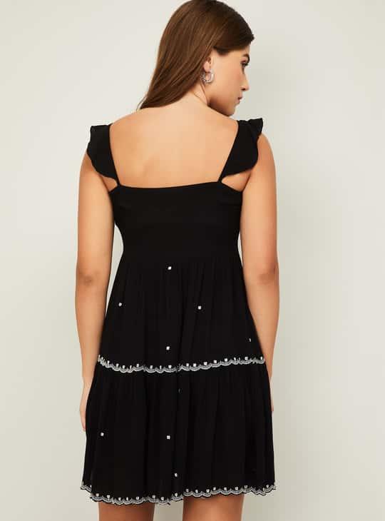 GINGER Women Embroidered Mini Dress