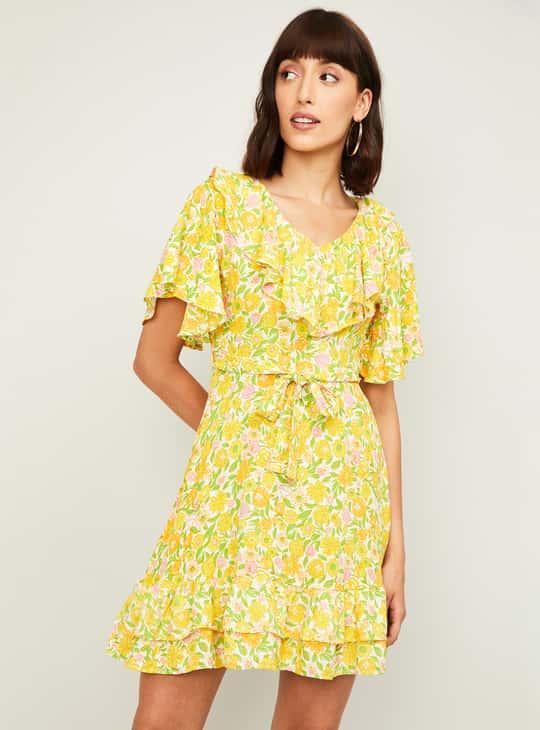 GINGER Women Floral Printed A-Line Dress