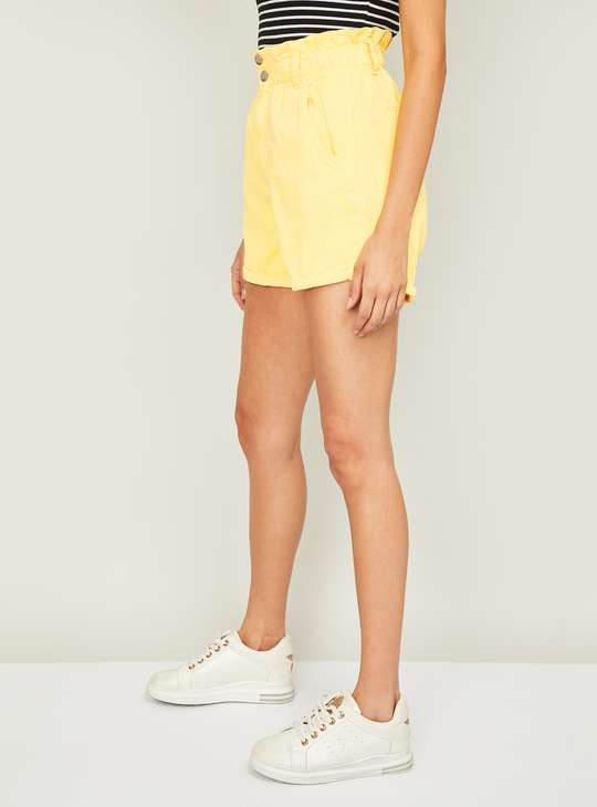 GINGER Women Solid Casual Shorts