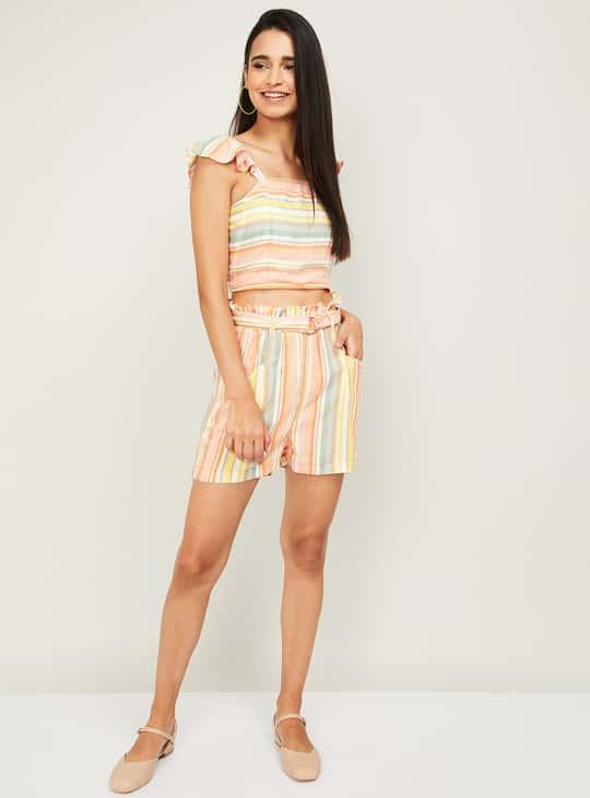 GINGER Women Striped Shorts