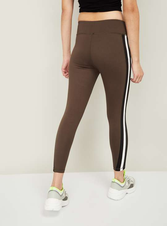 KAPPA Solid Tape-Detailed Tights