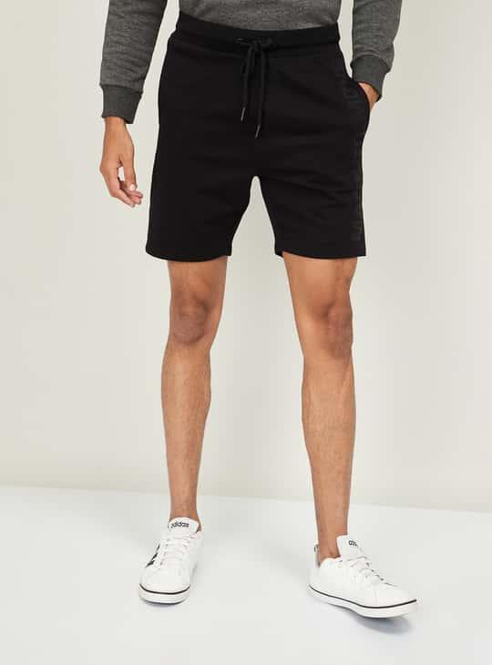 KAPPA Men Solid Elasticated Shorts