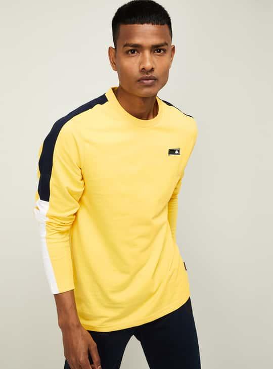 KAPPA Men Colourblocked Regular Fit Crew Neck T-shirt