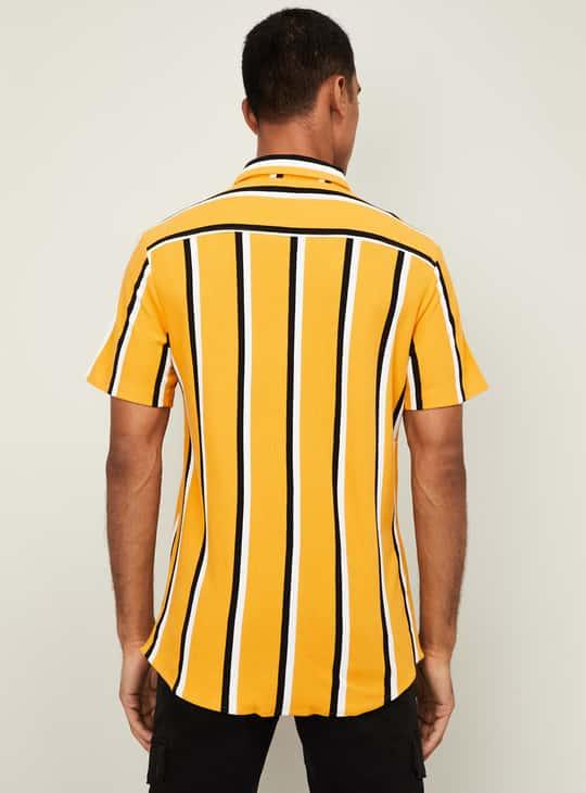 BOSSINI Men Striped Regular Fit Casual Shirt