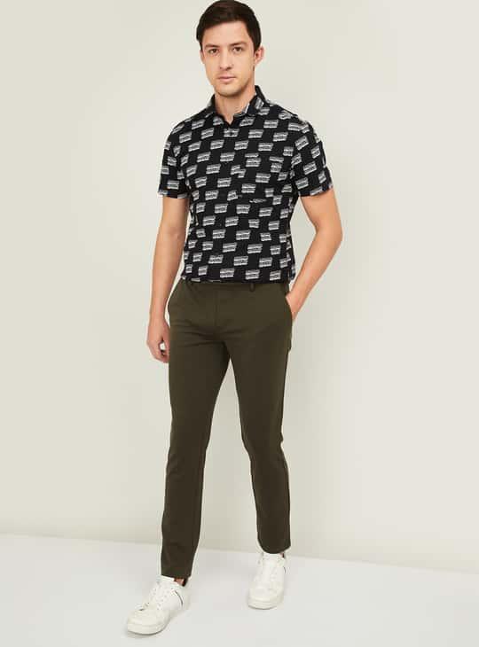 BOSSINI Men Printed Slim Fit Casual Shirt