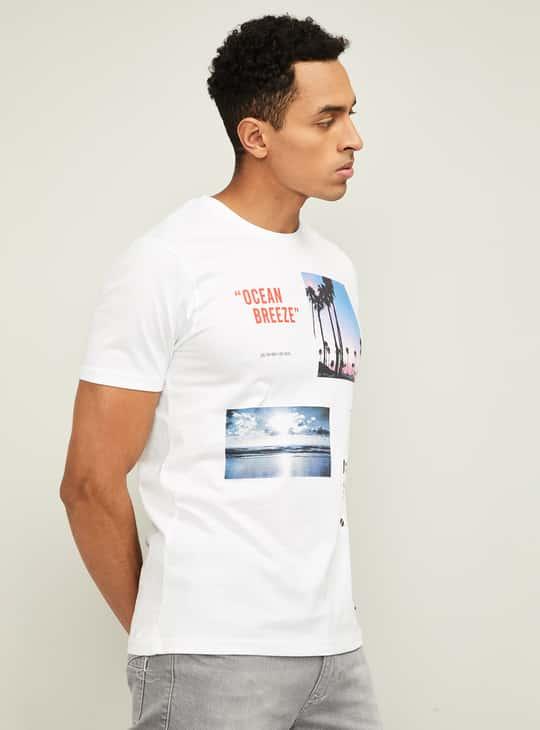BOSSINI Men Printed Crew Neck T-Shirt