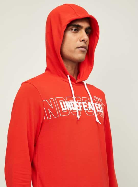 KAPPA Men Printed Hooded Sweatshirt