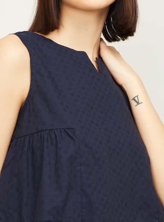 ALLEN SOLLY Women Textured A-line Top