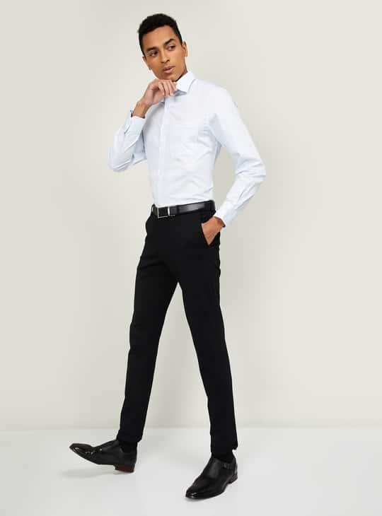 LOUIS PHILIPPE Men Checked Regular Fit Formal Shirt