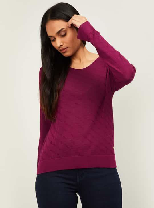LEVI'S Women Textured Knit T-shirt