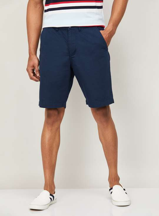 CODE Men Textured Regular Fit Woven Shorts