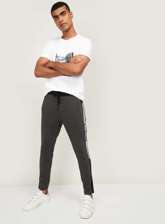 BOSSINI Men Printed Slim Fit Elasticated Track Pants