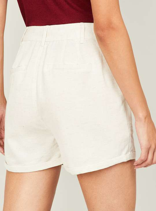 BOSSINI Women Textured Shorts