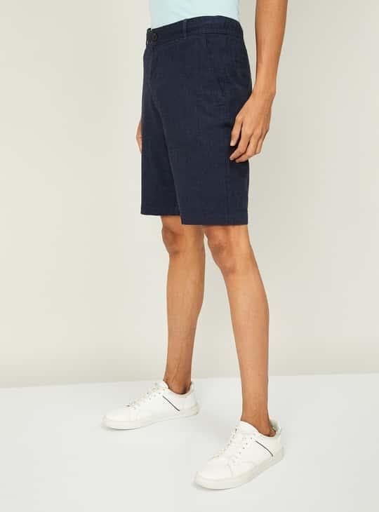 BOSSINI Men Solid Regular Fit Shorts