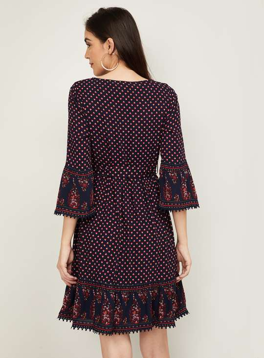 FAME FOREVER Women Printed A-Line Dress