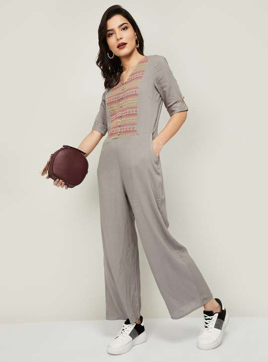 COLOUR ME Women Embroidered Jumpsuit