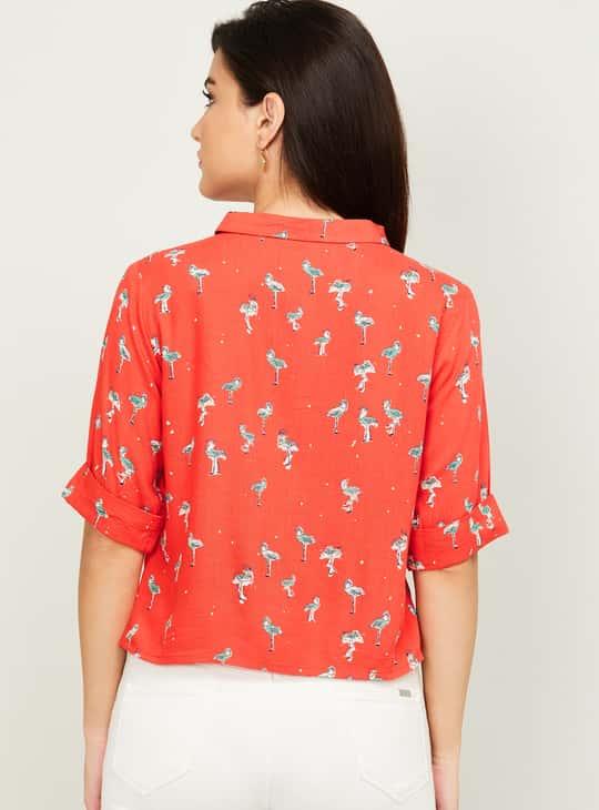 COLOUR ME Women Printed Short Sleeves Shirt