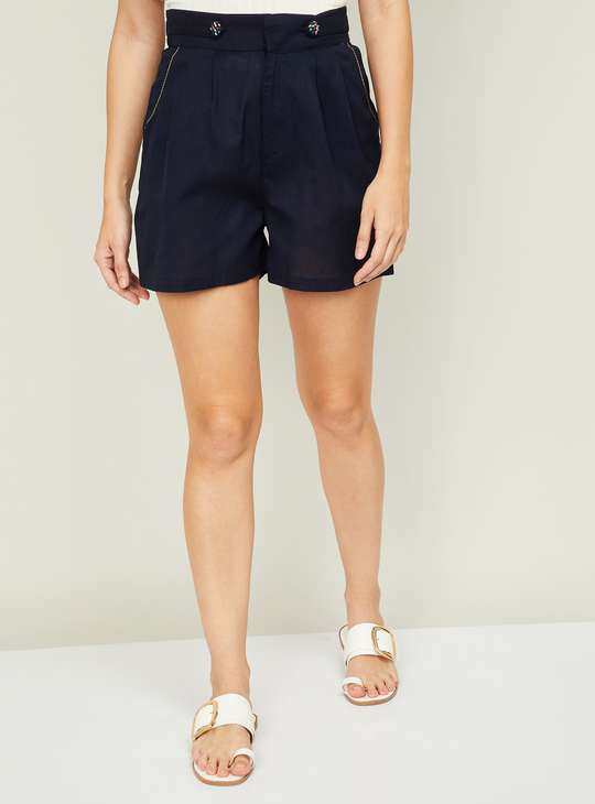 COLOR ME Women Solid Casual Shorts