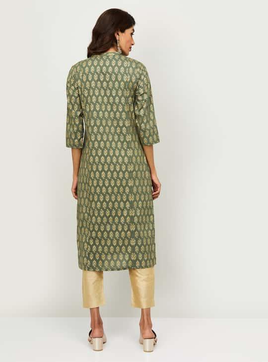 MELANGE Women Printed Kurta with Straight Pants