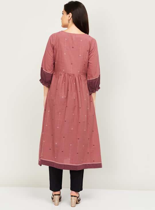 MELANGE Women Embroiderd Flared Kurta