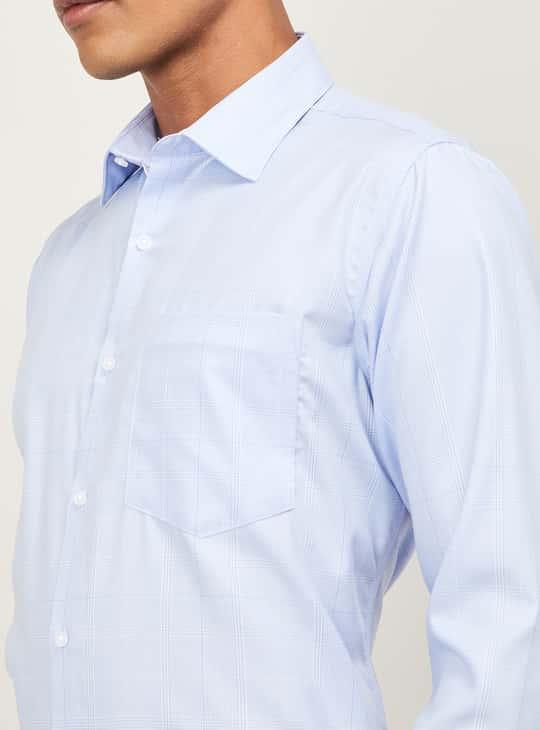 VAN HEUSEN Men Checked Regular Fit Formal Shirt
