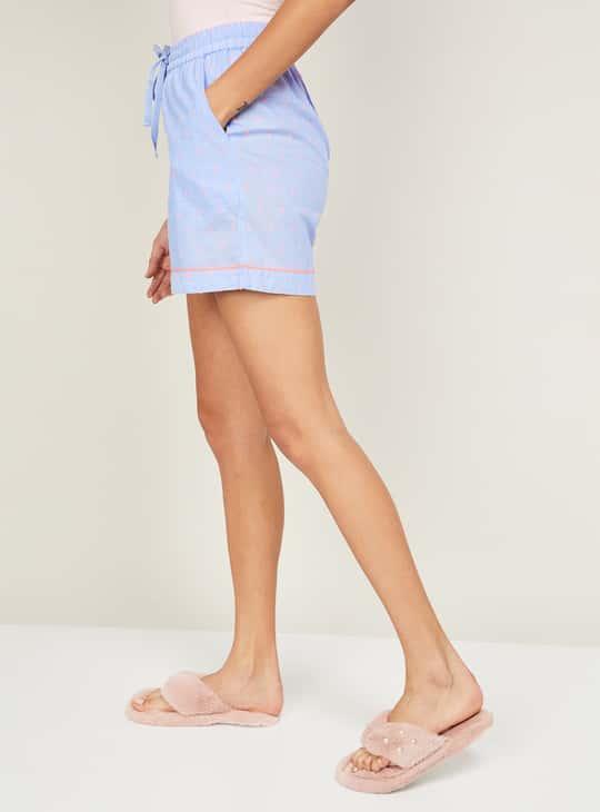 GINGER Women Printed Elasticated Shorts