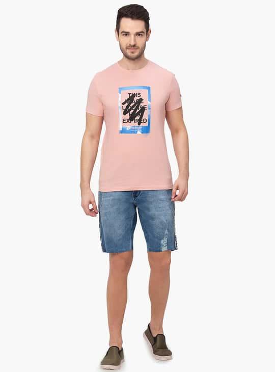 BEING HUMAN Men Printed Crew Neck T-shirt