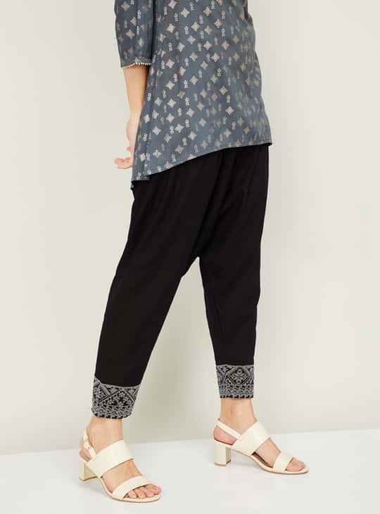MELANGE Women Solid Elasticated Patiala Pants