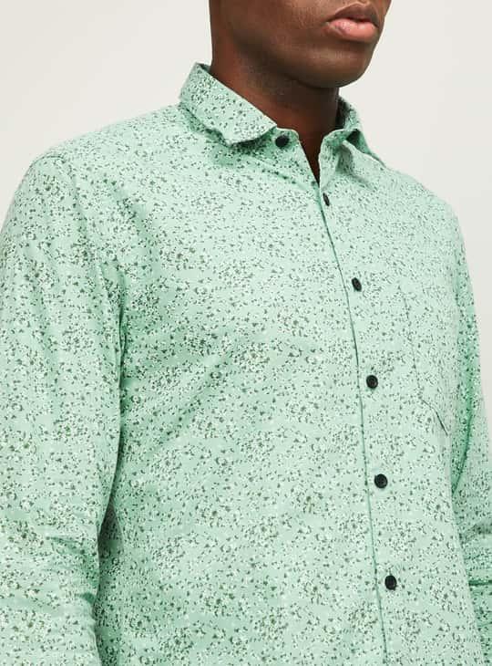CODE Women Floral Print Slim Fit Casual Shirt