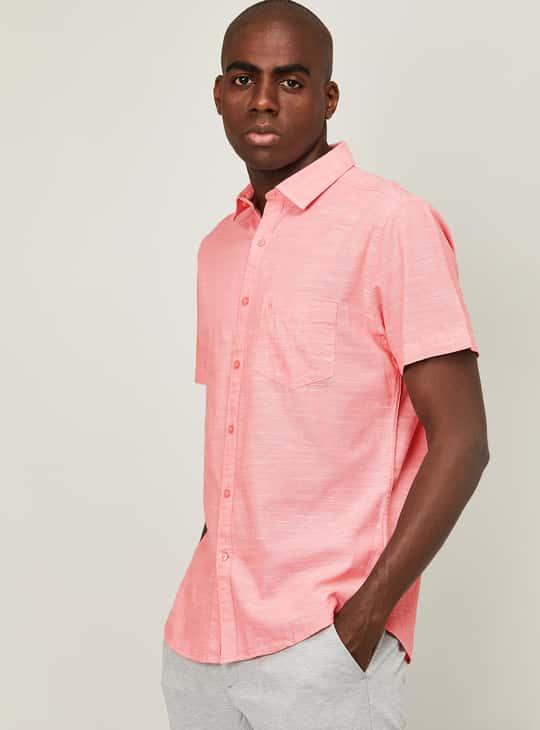 CODE Men Solid Regular Fit Casual Shirt