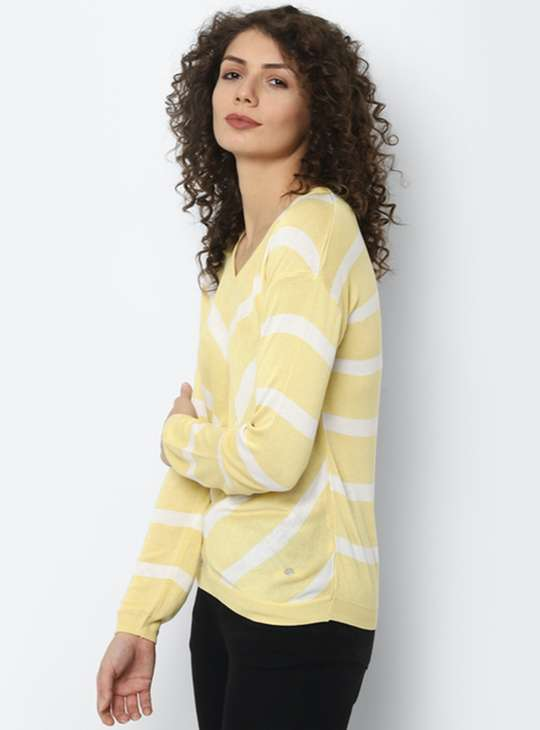 ALLEN SOLLY Women Printed Knitted T-shirt