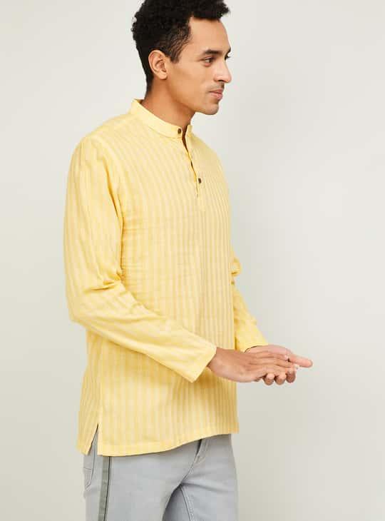 MELANGE Men Striped Regular Fit Kurta Shirt