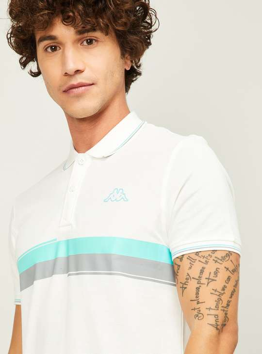 KAPPA Men Colourblocked Regular Fit Polo T-shirt